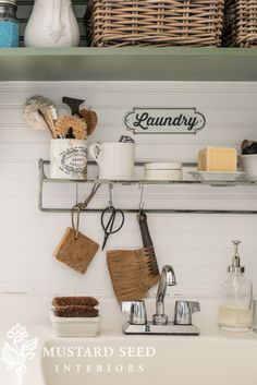 Laundry Room Makeover | Part 4 | Sources & Organization - Miss Mustard Seed #laundryroom #farmhousestyle #farmhousedecor
