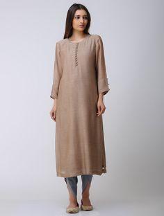 Buy Brown Chanderi Kurta Lining: Cotton Mul Women Kurtas Online at Jaypore.com