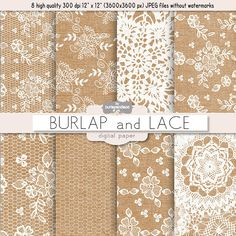 Burlap and Lace digital paper by burlapandlace on Creative Market