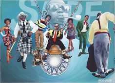 """""""Sape"""" (2011) by Chéri Chérin. Inspired by the Sartorial Sapeur culture in Congo."""