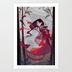 Mulan Art Print by Ann Marcellino - $15.00