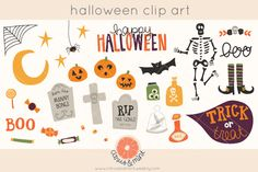 halloween clip art by Citrus and Mint on Creative Market