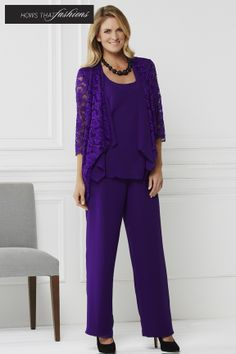 Hows That Fashions Laura K - Mother Of The Bride, Jumpsuit, Ruffle Blouse, Tops, Dresses, Women, Style, Fashion, Mother Bride