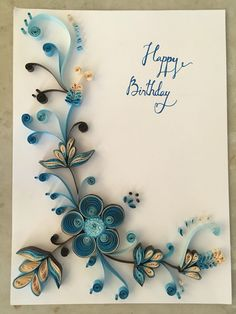 Paper Quilling Cards, Arte Quilling, Quilling Work, Quilling Craft, Quilling Flowers, Quilling Patterns, Quilling Designs, Boarder Designs, Stick Wall Art