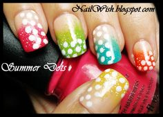 dots over a funky french gradient