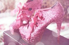 pink sparkled heels :)