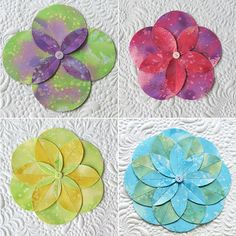 learn to sew fabric folded flowers with 4 5 6 8 petals them