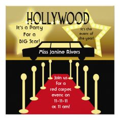Red Carpet Invitation With Paparrazzi, Hollywood Party, Red Carpet Birthday  Party, Movie Theatre Marquee, Hollywood Invitation On Etsy, $12.00 |  Pinterest ...