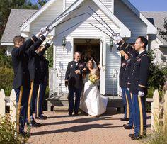 Cavalry wedding Saber Arch.