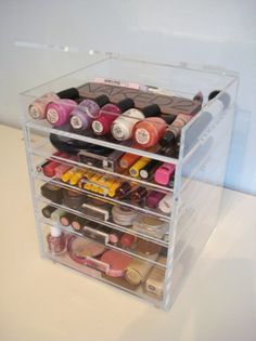 Amazon.com: ACRYLIC MAKEUP COSMETICS ORGANIZER 5 DRAWER PLUS 1 LID BEAUTY CUBE STORAGE (Acrylic knobs (handles)): Beauty
