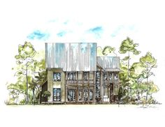 rear elevation of the 3,500 sq. ft. custom residence coming soon to Churchill Oaks
