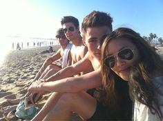 Casey with Steve McQueen Jr. and Colton Haynes