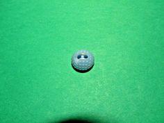 "(1) 1/2"" DIMPLED ""GOLF BALL"" COLT #35 BLUE PLASTIC 2-HOLE BUTTON VINTAGE (N887)"