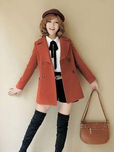 GoBoiano - 16 Thrifty Fashion Pieces That Will Kawaii Your Wardrobe Harajuku Fashion, Japan Fashion, Kawaii Fashion, Lolita Fashion, Cute Fashion, Fashion Outfits, Womens Fashion, Fashion Coat, Fashion Fashion