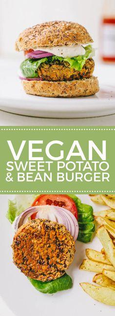 Smokey Sweet Potato & Black Bean Burgers #vegan #glutenfree                                                                                                                                                      More