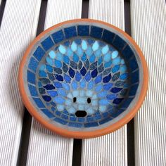 Moonlight Hedgehog Mosaic Garden Water Dish £29.00