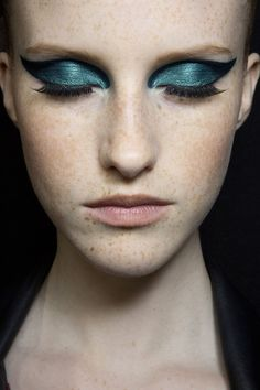 Versace Atelier Fall 2015, makeup by Pat McGrath