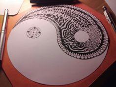 Yin yang aztèque fait en 3 heures il faut de la patiente mais une fois fini, c'est magnifique