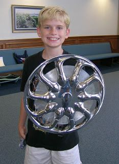 hubcap shield, lots and lots of great sunday school ideas on this site.