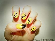 hufflepuff nails by ~IdaBlack on deviantART
