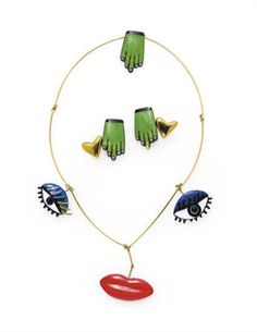 A GROUP OF ENAMEL AND GOLD JEWELRY, BY NIKKI DE SAINT PHALLE $10,000