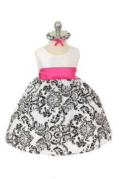 Kid's Dream flower girls dress Style # 294 in fuchsia  pink and other various colors. Stop by J Birds Bridal in Culver City, CA to try it on today! See JBirdsBridal.com for more information.