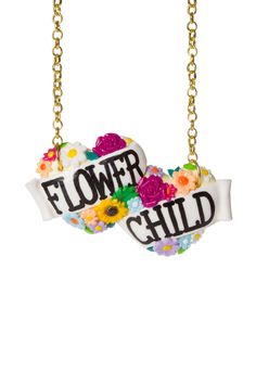 Flower Child Large Double Heart Necklace £22