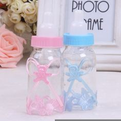 Hot Baby Christening Shower Baptism Party Birthday Favor Gift Candy Bottle Box
