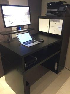 ikea hack standing desk i want a standing desk but iu0027m not confident i can make it myself dad teaching pinterest ikea hack desks and diy