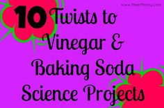 10 different suggestions for using vinegar and baking soda in simple science projects