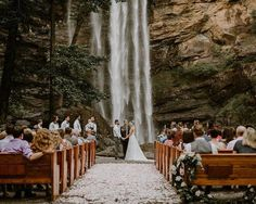 Amazing outdoor wedding venue – waterfall at Toccoa Falls, Georgia - Wedding Venues Unique Wedding Venues, Outdoor Wedding Venues, Indoor Wedding, Wedding Ceremony, Wedding Ideas, Wedding Planning, Wedding Inspiration, Ceremony Backdrop, Wedding Bells