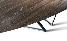Dritto Dining Table in Pietra D'Avola Lithoverde designed by Piero Lissoni and Salvatori