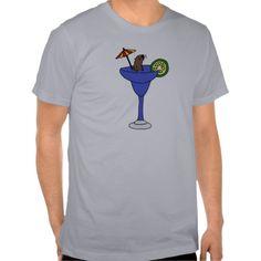 Funny Sea Otter in Blue Margarita Drink T-shirts #otters #shirts #funny #margarita #drinking #seaotters And www.zazzle.com/tickleyourfunnybone*