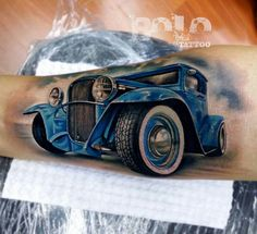 Best Car Tattoos Images – Best Tattoos In The World, Best Tattoos For Me, Best Tattoos For Men, Best Tattoos Designs, Best Tattoos Ideas Car Tattoos, Biker Tattoos, Body Art Tattoos, Sleeve Tattoos, Tattoos For Guys, Mens Tattoos, Hot Rod Tattoo, I Tattoo, Tattoo Ink For Sale
