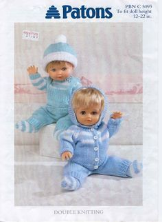 Knitting Clothes Patterns Baby Dolls 50 New Ideas Knitted Doll Patterns, Doll Patterns Free, Knitted Dolls, Doll Clothes Patterns, Baby Knitting Patterns, Baby Patterns, Free Pattern, 12 Inch Doll Clothes, Baby Doll Clothes