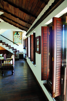 Traditional wooden windows....