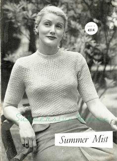 Curvy Month Pattern 5: Summer Mist jumper, c. late 1940s – Subversive Femme