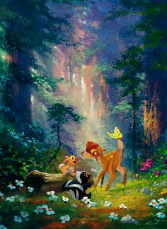 "Feel the sweetness of life all around you today. from ""Disney's Bambi"" Disney Pixar, Bambi Disney, Art Disney, Disney Images, Disney Dream, Disney Pictures, Disney And Dreamworks, Disney Animation, Disney Cartoons"