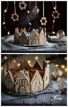 Gingerbread houses recipes and designs - Craftionary - Christmas cake decorations. Faster and easier with speculoos. -Perfect Gingerbread houses recipes and designs - Craftionary - Christmas cake decorations. Faster and easier with speculoos. Christmas Gingerbread House, Christmas Sweets, Christmas Cooking, Noel Christmas, Christmas Goodies, Christmas Decorations, Gingerbread Houses, Cake Decorations, Gingerbread Cake
