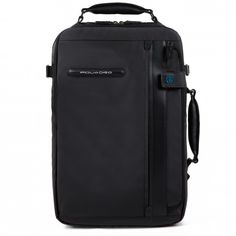 Organized tote with stow-away shoulder pads, double compartment for notebook and iPad/iPad®Air
