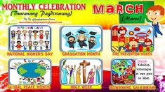 2018 Monthly Celebration with Monthly Motto March Classroom Bulletin Boards, Classroom Rules, Classroom Displays, Monthly Celebration, Healthy Habits For Kids, October Bulletin Boards, March Month, January, School Forms