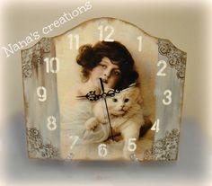 Nana's Χειροποίητες Δημιουργίες Wooden Walls, Clocks, Frame, Blog, Handmade, Vintage, Home Decor, Wood Walls