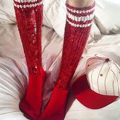 never forget sequin socks