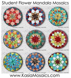 Mosaic Tile Art, Mosaic Diy, Mosaic Glass, Glass Art, Tile Crafts, Mosaic Crafts, Stained Glass Patterns, Mosaic Patterns, Mandala Pattern