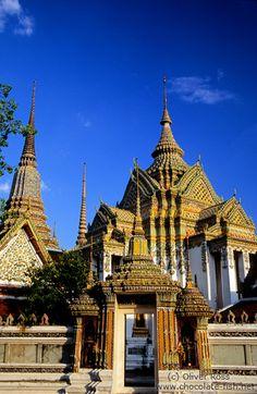 "Wat Po, Bangkok, Thailand- Home of ""The Reclining Buddha"""