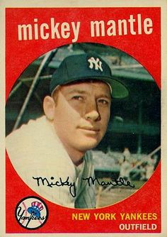 Mickey Mantle, 1959 Topps series