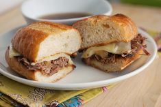 French Dip - This would be a good Super Bowl party recipe.