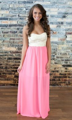 The Pink Lily Boutique - Fall In Love Maxi Pink, $44.00 (http://thepinklilyboutique.com/fall-in-love-maxi-pink/)