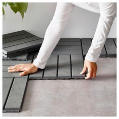IKEA - RUNNEN Decking, outdoor gray