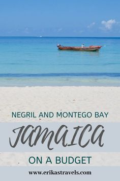 White sand beach. Clear blue water. tasty jerk chicken. Fruity drinks. All possible to experience on a budget. This guide to traveling to Jamaica on a budget focuses on Montego Bay and Negril. Tips on places to stay, places to eat, things to do, things to
